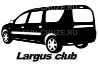 LAD-090-21 Клубная наклейка Largus Club
